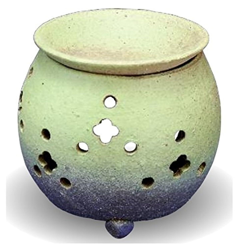 排気閉塞ぼんやりした常滑焼 茶香炉(アロマポット)径10×高さ11.5cm