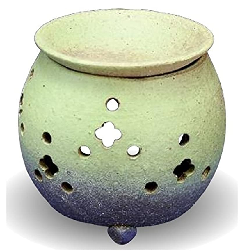 フォーカス奪うあえて常滑焼 茶香炉(アロマポット)径10×高さ11.5cm