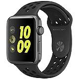 ナイキ スポーツ Apple Watch Nike+ 42mm スペースグレイアルミニウムケースとアンスラサイト/ブラックNikeスポーツバンド MQ1M2J/A