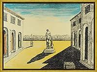 フレーム Giorgio De Chirico ジクレープリント キャンバス 印刷 複製画 絵画 ポスター(像と広場) #XLK