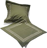 Il Gioiello - ソファピロー クッション コットンサテン使用 ギリシャ風刺繍入りイタリア製