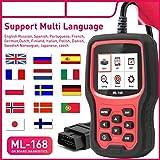ほとんどの5人乗りの車のための車検出診断機器ML-168 OBD2車診断スキャナー検出可能なバッテリーバッテリー CARZJ