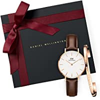 Gift Set Classic Petite Bristol White Watch  28mm+ Cuff RG Small