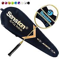 Senston n80グラファイトSingleハイグレードバドミントンラケット、カーボンファイバーバドミントンラケットなど、バドミントンバッグ