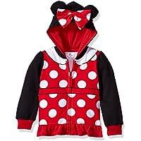 Disney Baby-Girls IESTM01-5T13 Minnie Mouse Costume Zip-up Hoodie Long Sleeve Hooded Sweatshirt - Multi
