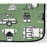 レジャーシート 厚手 大きい クッション レジャーシート 敷きマット (キャンプグリーン)