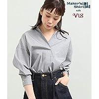 ビス(ViS) 【鎌倉シャツ×ViS】バックシャンブラウス