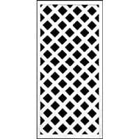 ホワイト格子ラティスフェンス 1200×600mm(木製) 目隠しフェンス DIY 園芸 ガーデニング 旭興進株式会社 JJ PROHOME