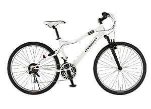 CHEVROLET(シボレー) LOOP ATB268F-sus-R4 ホワイト 26インチ(パンクしにくい強化タイヤ<アラミド繊維とセラミック粒子による強化層でパンクしにくい>) シマノ18段変速ギア搭載 フロントサスペンション マウンテンバイク 前後Vブレーキ 14101-1299 AMZ