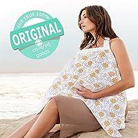 terveテルヴェ ムレない 授乳ケープ 汗っかきの赤ちゃんに優しい 綿100% ガーゼ 生地 ワイヤー入り 収納袋付き(soleil-c)