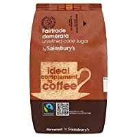 (Sainsbury's (セインズベリー)) フェアトレードデメララサトウキビ500グラム (x4) - Sainsbury's Fairtrade Demerara Cane Sugar 500g (Pack of 4) [並行輸入品]