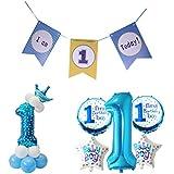 amleso 約25点 風船 キッズバースデーバナー 1歳 誕生日パーティー お祝い ナンバーバルーン