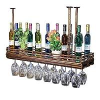 天井のワインラック| ワイングラスラック 赤ワインカップホルダー ゴブレットラック ボトルラック ガラスラック ビンテージスタイルの装飾収納棚