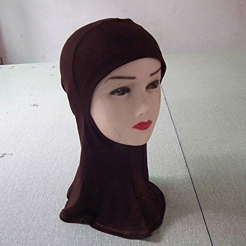 HuaYangファッションIslamic Turban Head Wearバンドネック胸カバーボンネットHijab (ブラウン)