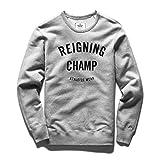 rc-3483-heathergrey (REIGNING CHAMP) GYM LOGO CREWNECK (レイニング チャンプ) ジム ロゴ クルーネック L [並行輸入品]