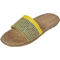 (アーバン ココ)[Urban CoCo]ルームシューズ ベーシック 来客用 部屋用 履きやすく 室内 静音で軽量 麻 夏春スリッパ編み物