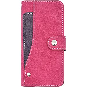 PLATA iPhone 6 iPhone6s ケース 手帳型 スライド カード ポケット ソフト レザー カバー 手帳カバー iPhone 6 6s 【 ビビッドピンク pink 桃 ピンク 】 IP6-6217VP
