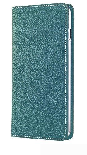 BONAVENTURA ボナベンチュラ iPhone 6s Plus / 6 Plusケース (5.5インチ) ドイツ製本革 牛革 手帳型 (ブルーシアン)