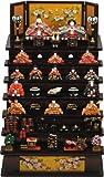 3262 彩寿雛木製七段飾り(茶)