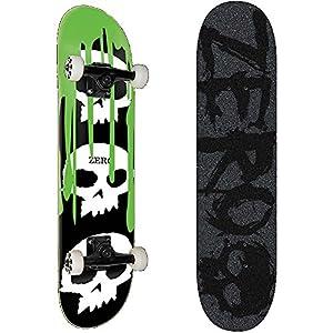 ZERO(ゼロ) スケートボード コンプリート (完成品) 3 SKULL W/BLOOD BLACK/GREEN PREMIUM 【高品質パーツ使用 ブランド純正品】 スケボー C17032 (7.625 x 31.375)