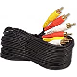 25Ft RCA M/Mx3 Audio/Video Cable Gold Plated - Audio Video RCA Cable 25ft