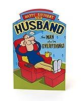 おかしい夫の誕生日カード - 彼のためのギフトカード - 彼のための誕生日プレゼント - 夫のためのプレゼント - 夫のためのおかしいギフト