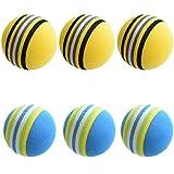 ゴルフ 練習 ボール 6球 セット (青色3個、黄色3個)【室内練習等】