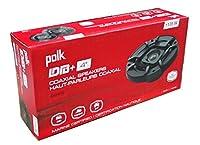 2) Polk Audio DB402 4インチ 135W 2ウェイ 車/海洋 ATV ステレオスピーカー ブラック (2パック)