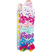 NC Bows 7 Days JoJo Bow 8 cm with Unicorn and Rainbow Pattern - Beautiful Hair Accessories - Best Xmas Present Stocking Filler for Girls