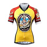 Thriller Rider Sports サイクルジャージ レディス 女性自転車運動服装半袖 Cheers for Being 4 Colors