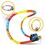 Wishtime 人気のレールセット プラレール ジェットコースター トントン転がり電車 おもちゃ のぼりおりを楽しもう!
