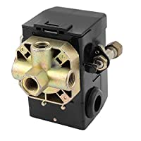 1/4 NPT 4つのポートの空気圧縮機空気圧スイッチコントロールバルブ