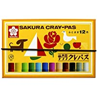 サクラクレパス クレパス 12色 ゴムバンド付き LP12R