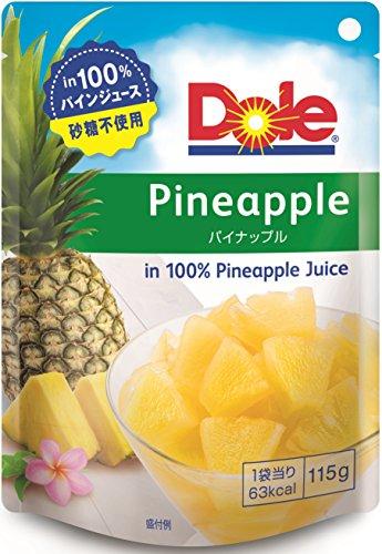 ドール フルーツパウチ パイナップル 115g×6個