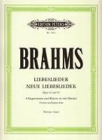 Liebeslieder / Neue Liebeslieder op. 52 / 65: Walzer fuer 4 Singstimmen und Klavier zu 4 Haenden