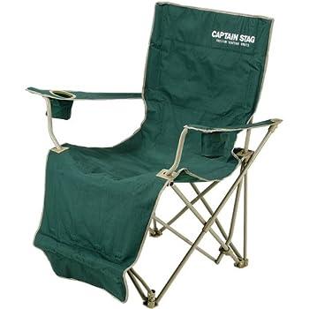キャプテンスタッグ キャンプ用品 椅子 チェア CS オートリクライニング グリーンM-3884