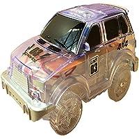 RaiFu マジックトラック エレクトロニクス 車 LED点滅ライト おもちゃ 教育 プラスチック 楽しい ギフト 子供 5セット 透明なオフロードカー