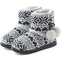 ChicNChic Women Cozy Plush Fleece Bootie Slippers Winter Indoor Outdoor House Shoes