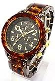 今欲しい!そんな気にさせる一本 べっ甲カラーメタルコンビ腕時計 [ SORISSO ]  誕生日プレゼント (ブラック)