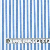 ベーシックストライプ・青(綿ポリ) 交織生地 ハンドメイド 手作り用生地 0.5m単位でご注文いただけます。 T0004S00
