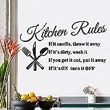 Tovadoo ウォールステッカー 英字 Kitchen Rules 部屋 リビング ファッション おしゃれ インテリア リフォーム 模様替え