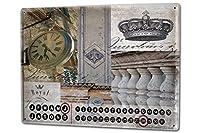 カレンダー Perpetual Calendar Fun rative France of Royal Tin Metal Magnetic