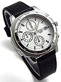 SEIKO クロノグラフ 腕時計 本革ベルトセット 国内セイコー正規流通品 ホワイト SND187P1 [並行輸入品]