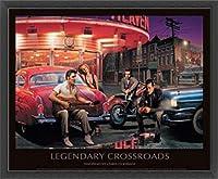 ポスター クリス コンサニ Legendary Crossroads 額装品 ウッドベーシックフレーム(ブラック)
