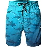 Good Pillow Cases Shark Week Men's/Boys Casual Shorts Swim Trunks Swimwear Elastic Waist Beach Pants with Pockets