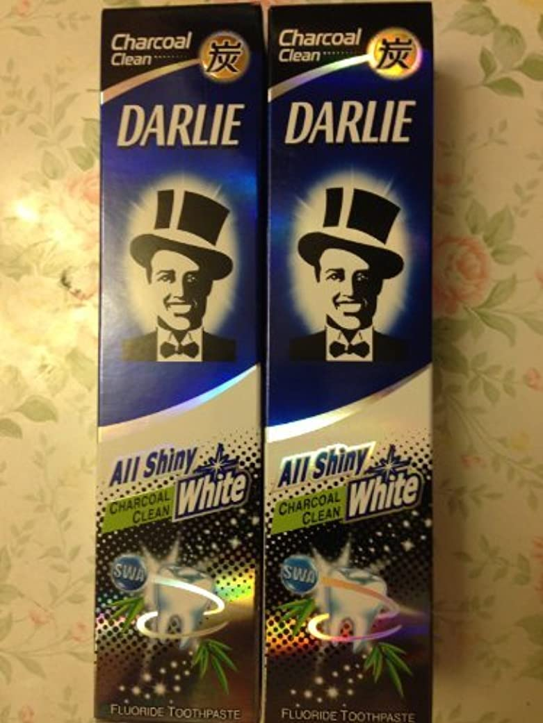 ラビリンスぴったり限定2 packs of Darlie Charcoal All Shiny Whitening Toothpaste by Darlie