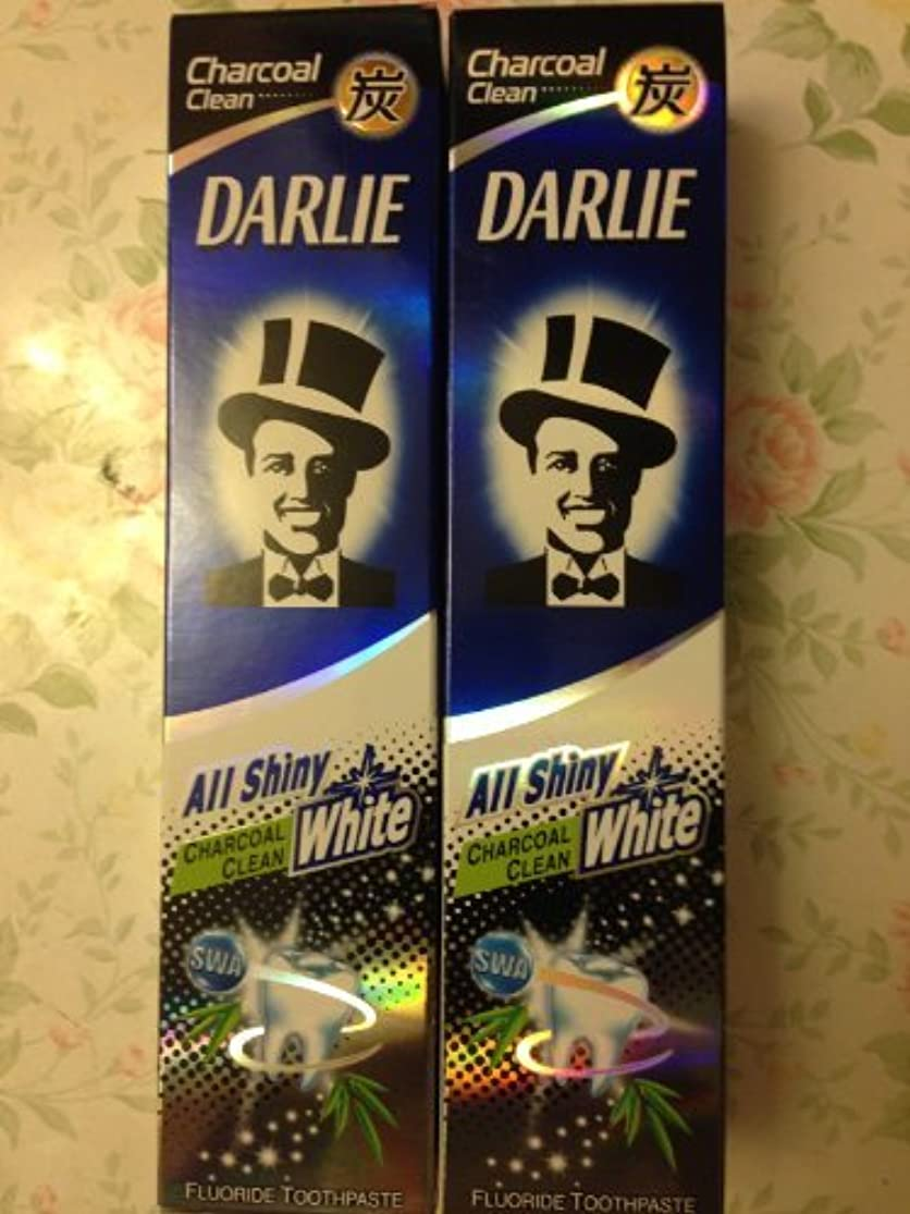 ピン突然の控えめな2 packs of Darlie Charcoal All Shiny Whitening Toothpaste by Darlie