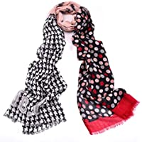 Womens Scarf Lightweight Floral Print Stripes Leopard Fashion Scarves Wrap Stole Shawl