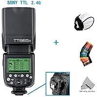 Fomito GODOX TTLカメラフラッシュTT685S  TTLオートフラッシュ  TTL マスター スレーブ  GN60  2.4Gワイヤレス 伝送  HSS 1/8000S  Sony A77II A7RII A7R A58 A99 ILCE6000L ILDCカメラ用  Sony DSLRカメラに対応