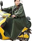 レディース ポンチョ haruju レインコート レインポンチョ ロングポンチョ バイク 自転車 車いす (グリーン)